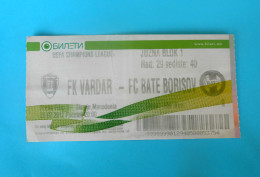 FKVARDAR : FC BATE BORISOV Belarus - 2012. UEFA CHAMPIONS LEAGUE Football Soccer Match Ticket Foot Billet Biglietto - Match Tickets