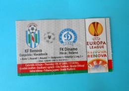 KFRENOVA : FC DINAMO Minsk Belarus - 2009. UEFA EUROPA LEAGUE Football Soccer Match Ticket Fussball Calcio Biglietto - Eintrittskarten