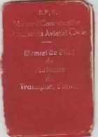 Romania - RPR - Brevet De Pilot De Avioane De Transport Public - 1958 - Documenti Storici