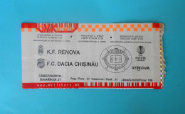 KFRENOVA : FC DACIA CHISINAU Moldova - 2015. UEFA EUROPA LEAGUE Football Soccer Match Ticket Fussball Calcio Biglietto - Eintrittskarten