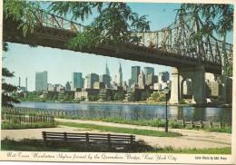 R2689 New York - Mid Town Manhattan Skyline Framed By The Queensboro Bridge / Non Viaggiata - Manhattan