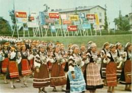 Celebration Party At The Komsomol Stadium - People In Folk Costumes - Tallinn - 1985 - Estonia USSR - Unused - Estonia
