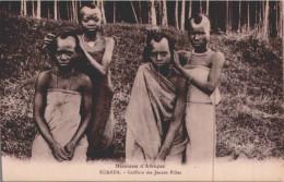 RUANDA / COIFFE   /TRAIT  CAUSE  SCAN  / LOT 1655 - Ruanda-Urundi