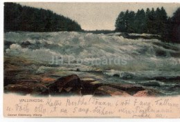 Wallinkoski - Waterfall - Old Postcard - Finland - Used In 1906 Finland Tsarist Russia - Finland