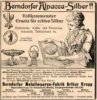 Original-Werbung/Inserat/ Anzeige 1899 :  BERNDORFER ALPACCA - SILBER - Ca. 135 X 135 Mm - Publicités