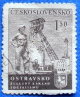 CZECHOSLOVAKIA MINERS ON SITE 1,50 K 1951 Mic.688 - USED - Czechoslovakia