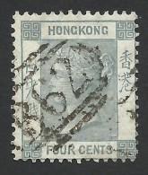 Hong Kong, 4 C. 1863, Sc # 10, Mi # 9a, Used. - Hong Kong (...-1997)