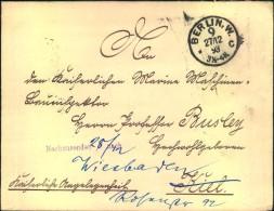 """1893, Kaiserliche Angelegenheit Ab BERLIN W * 9 C, Verschluss """"Marine-Kabinet Sr. Majestät DesKaisers"""" - Deutschland"""