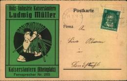 1928, Tolle Firmen-WerbeKarte,  Reklame, Holz-Industrie Kaiserslautern Ludwig Müller - Allemagne