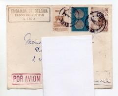 42-1 ) Enveloppe Timbrée Embassade De Belgique Au Pérou - Pérou