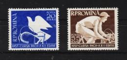 1957 - 10 Tour Cycliste De La Paix Mi No 1643/1644 Et Yv No 1509/1510 MNH - Ungebraucht