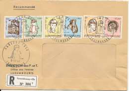 Luxembourg FDC Registered With Complete Set Of Caritas Stamps 5-12-1968 - Christmas