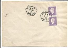 OBLITERATION DE BEBLENHEIN HAUT RHIN) DU 12/11/1945 - Marcofilia (sobres)