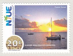 Niue 2009 Tropical Sunset Sailing Ship MNH ** - Niue