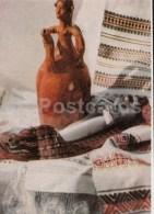 Works Of Folk Artists Of Moldova - Bottle - Textile - 1968 - Moldova USSR - Unused - Moldavie