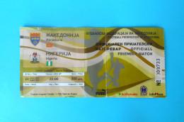 MACEDONIIA : NIGERIA - 2007. Official Inter. Friendly Football Soccer Match Ticket Foot Billet Biglietto Fussball Futbol - Eintrittskarten