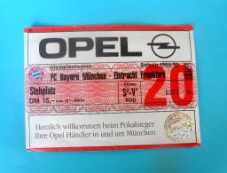 FC BAYERN Munchen : EINTRACHT FRANKFURT - 1998/99. Bundesliga Football Soccer Match Ticket Foot Billet Fussball Germany - Eintrittskarten
