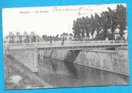 Belgique-Nieuport-les écluses-cpa écrite 1907 - Nieuwpoort