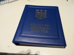 BUND  Posten  KÜNSTLER-ERSTTAGS- BLÄTTER  Im  RINGBINDER - Briefmarken