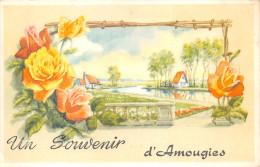 ¤¤  -   BELGIQUE   -  MONT-de-L´ENCLUS    -  Un Souvenir D´ AMOUGIES  -  Carte Fantaisie    -  ¤¤ - Mont-de-l'Enclus