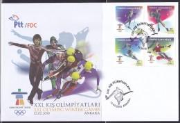 AC - TURKEY FDC - XXIth OLYMPIC WINTER GAMES VANVOUVER 2010 ANKARA 10 FEBRUARY 2010 - 1921-... República