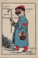CPA Satirique Caricature Guerre 14-18 Patriotique Germany Kaiser Non Circulé Poste Facteur Prisonnier - Satiriques