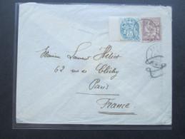 Frankreich / China 1906 Mixed Franking. Marke Mit Zwischensteg. Brief Mit Siegel!! Peking Chine. Selten / RAR - Briefe U. Dokumente