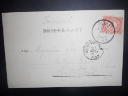 Pays Bas Carte De Sluis 1902 Pour Heyst - Periode 1891-1948 (Wilhelmina)