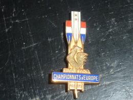 BROCHE INSIGNE AVIRON - FISA FFSA - CHAMPIONNATS D'EUROPE 1959 - RARE AVIRON SPORT - Aviron