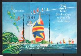 2004 Vanuatu  Sailing  Complete Set Of 4 MNH + Souvenir Sheet - Vanuatu (1980-...)