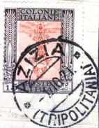 """Italia-F01464 - Libia 1921: Sassone N. 25c (o) - Bella Varietà: """"CENTRO CAPOVOLTO"""" - Privo Di Difetti Occulti. - Libya"""