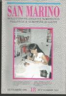 SANBF18---   SAN MARINO,  BOLLETTINO FILATELICO,   N°18,     1995, - FDC