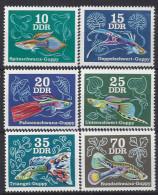 Germany (DDR) 1976  Zierfische: Guppys  (**) MNH  Mi.2176-2181 - [6] Democratic Republic