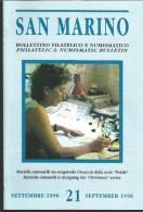 SANBF21---   SAN MARINO,  BOLLETTINO FILATELICO,   N°21,        1996, - FDC