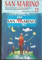 SANBF23---   SAN MARINO,  BOLLETTINO FILATELICO,   N°23,      1997, - Space