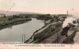 CPA SAINT RAMBERT D'ALBON PANORAMA DES ILES ET DU RHONE Train à Vapeur - Autres Communes