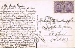19186. Postal BELGIEN A St. Cloud (france) 1922. Portrait Madme Recamier - Bélgica
