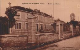 MONESTIER  DU PERCY /ECOLE /MAIRIE/ TRAIT  VERTICAL  CAUSE  SCAN / LOT 1656 - Non Classés