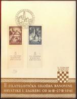 CROATIA - JUGOSLAVIJA - PHILATEL. EXHIBITION - 1.50 Din. Perf 9 ¼ - FDC - 1941 - Croazia