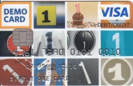 EU - Visa Europe, Oberthur Demo Card, Sample - Cartes De Crédit (expiration Min. 10 Ans)