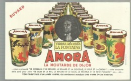 """-** AMORA """" -  **-  """""""" La Moutarde De  Dijon. """""""" - Buvards, Protège-cahiers Illustrés"""