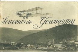 90 GIROMAGNY SOUVENIR VUE GENERALE AEROPLANE AVION AVIATION TERRITOIRE DE BELFORT - Giromagny
