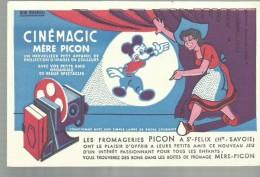 """-** Les  Fromageries  """" -  **-  """"""""PICON A St-Felix ( Hte.-Savoie) """""""" - Buvards, Protège-cahiers Illustrés"""