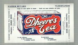 "-** DHEERE'S  TEA  "" -  **-  """" """" - Buvards, Protège-cahiers Illustrés"