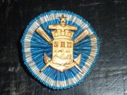 BOUTONNIERE INSIGNE ANCIEN - S.N.M. AVIRON - RARE AVIRON SPORT - Rowing