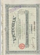 ACTION TITRE DE 100 FRANCS N°094898 - VICTORIA S.A Exploitation Industrie Commrtce Transport Pétrole - Actions & Titres