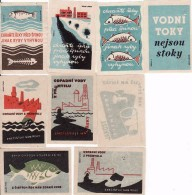 Czechia Boites D'allumettes-etiquettes,labels Fauna, Conservation De L'eau, Poisson,. Solo Lipník - Boites D'allumettes - Etiquettes