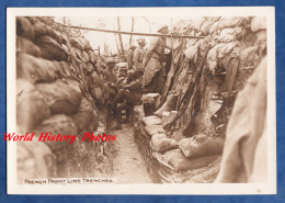 Photo Ancienne De L'armée Américaine - Intérieur D'une Tranchée Française - Voir Fusil équipement - French Trench WW1 - War, Military