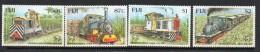 1999 Fiji  UPU Trains Complete Set Of 4  MNH - Fiji (1970-...)