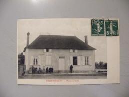 A394. CPA. 10. BALIGNICOURT. Mairie Et Ecole.   Beau Plan Animé. écrite & Voyagée 1912 - France